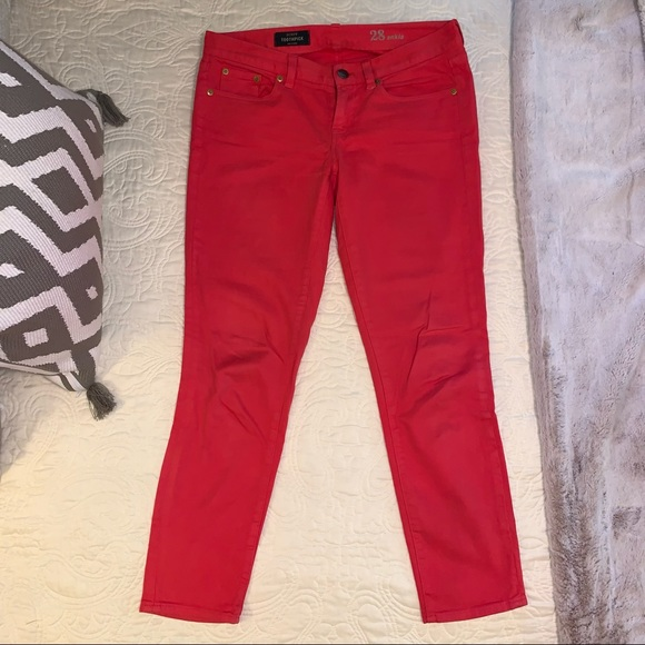 J.Crew Toothpick Jeans Pink